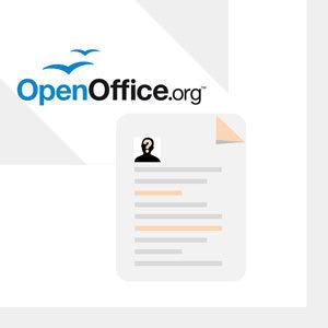 CV gratuit Open Office :  un modèle de CV pour une solution rapide
