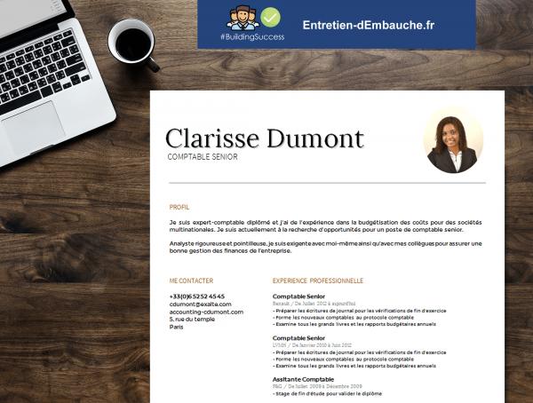 Modèle de CV comptable